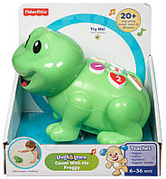 Fisher-Price музыкальная жабка следуй за мной Laugh & Learn Count With Me Froggy, фото 1