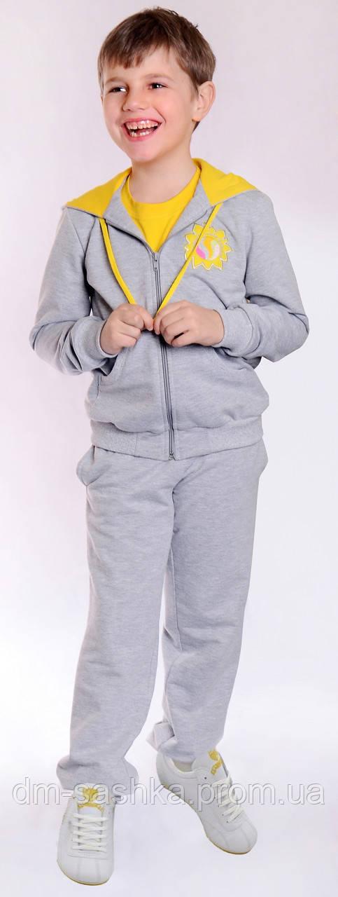 Детский спортивный костюм для мальчика желтый