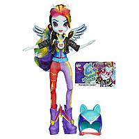 My Little Ponу Девушки Эквестрии шарнирная Рэйнбоу Дэш Стильные прически Hasbro