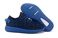 Кроссовки мужские Adidas Yeezy Boost 350 Low Navy Blue беговые