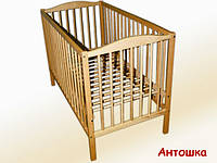 Детская кроватка Антошка, дуга-колеса, бук