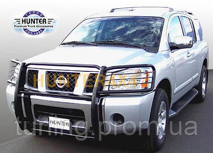 Защитная переднего бампера и фар  Nissan Armada 04-13 2004-on
