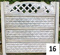 Забор бетонный кирпич в рамке