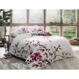 Постельное белье Tac Bambu cotton Milfort fusya евро размера