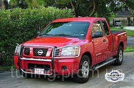 Защита переднего бампера и фар SS Nissan Armada 04-13 2004-on