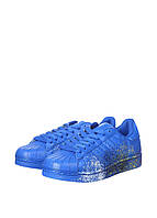 Кроссовки мужские Adidas Superstar Supercolor PW Paint Art Blue синее