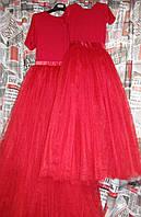 Платье красное пачка