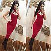 Облегающее платье с чашками и декольте, фото 2