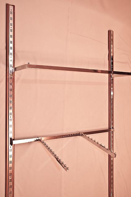 Дуга и перемычка на рейку овальная и квадратная, белая и хромированная