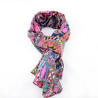Нежный весенний шифоновый шарфик с ярким и оригинальным принтом, фото 1