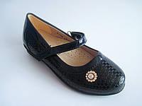 Детские лаковые туфли для девочки, стелька кожаная с супинатором, р. 29 - 19,5 см