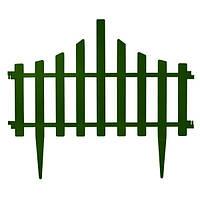 Заборчик для газона 65*55 см набор 4 секции Зеленый
