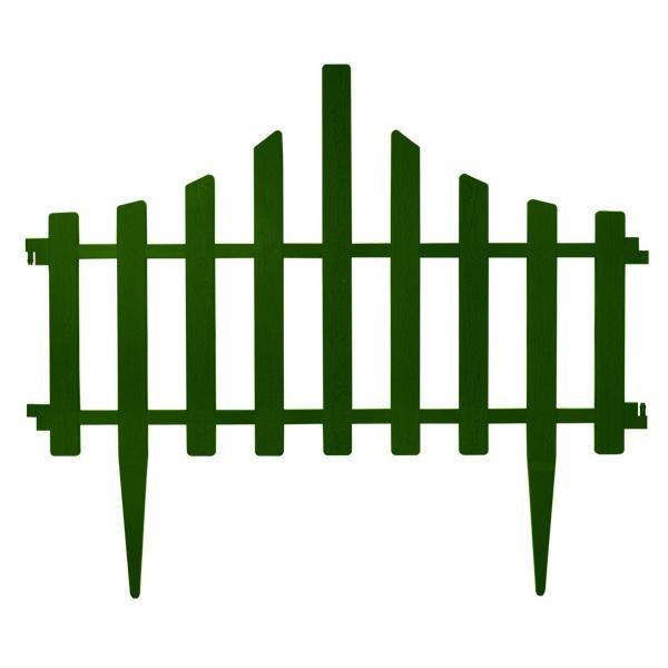 Заборчик для газона 65*55 см набор 4 секции Зеленый - Хаус-пласт в Черкассах