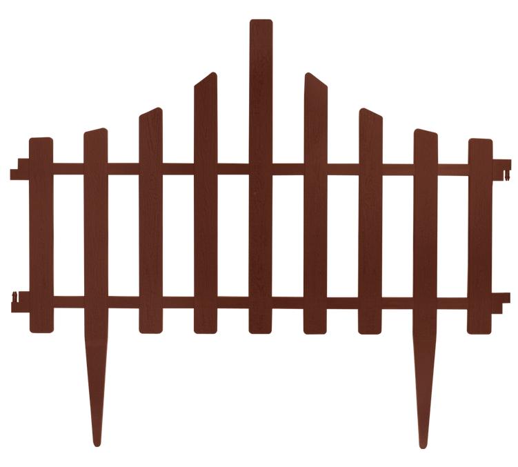 Заборчик для газона 65*55 см набор 4 секции Коричневый - Хаус-пласт в Черкассах