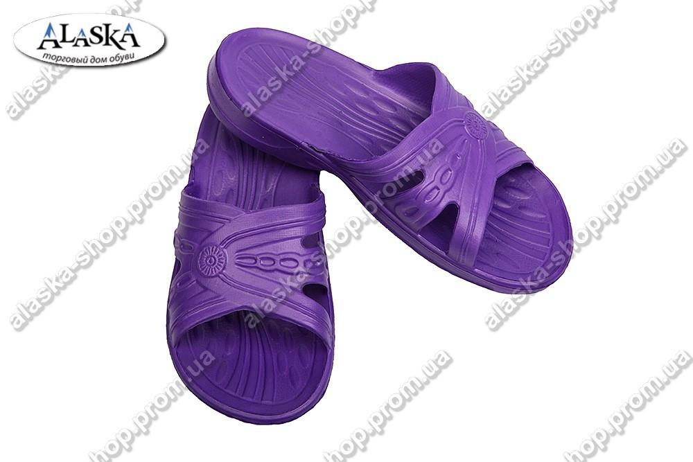 Женские шлепки фиолетовые (Код: ПЖ-03)