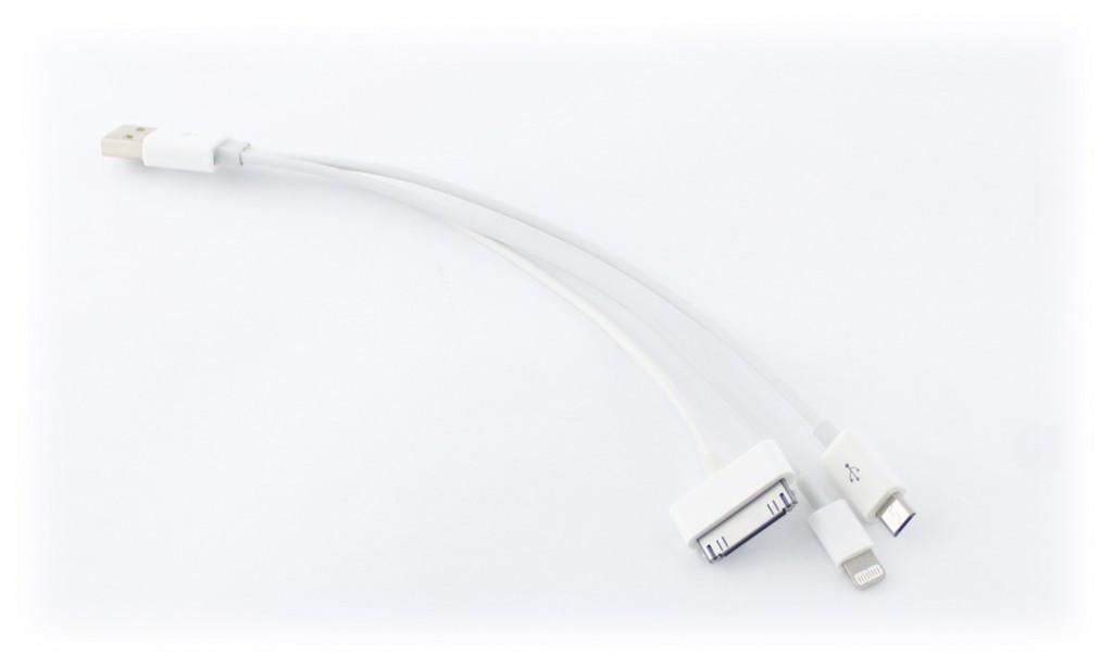 USB кабель 3в1 iPhone 4 iPhone 5 micro usb