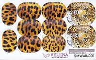 Наклейка для дизайна ногтей Animals collection Super Mini set VELENA SMWAN-001