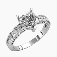 Кольцо  женское серебряное Сердце от Тифани  КЕ-1046, фото 1