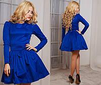 Платье классическое с бантом-поясом 2 цвета
