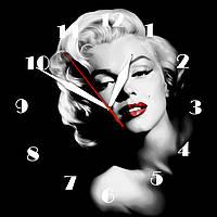 """Настенные часы на стекле """"Мерлин"""" кварцевые, фото 1"""