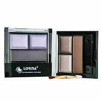 Двойные тени и подводка для глаз Lorina LEY-003B