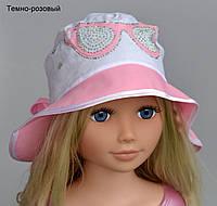 Панама Очки стразы р. 48-52 (2-4 года). Розовый, бело-розовый, темно-розовый, бирюза, сирень