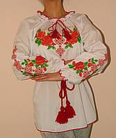 Оригинальная женская вышитая блуза Розы