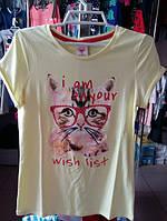 Детская подростковая футболка для девочки р.140,146