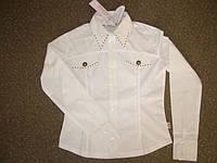 Блузка белая для девочек Pleyful  р.134
