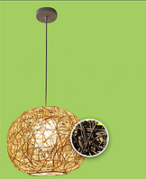 Оригинальная люстра из ротанга: 60 Вт, цвет коричневый/бежевый