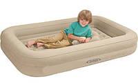 Детский односпальный надувной матрас Intex