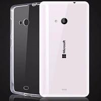 Чехол силиконовый Ультратонкий Epik для Nokia Microsoft Lumia 535 Прозрачный, фото 1