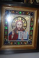 Иисус   (  вышивка бисером и камнями  )