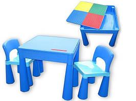 Комплект дитячих меблів Tega Baby Mamut (стіл + 2 стільці) Green Orange 3, синій (Blue)