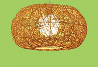 Люстра из ротанга натурального, цоколь Е27, 60Вт, бежевый цвет