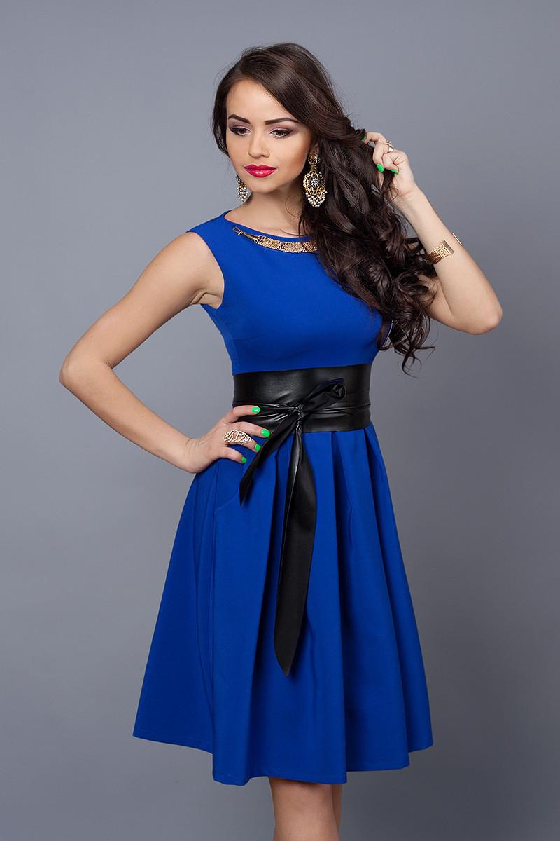 Женское легкое коктейльное летнее платье клеш,42,44