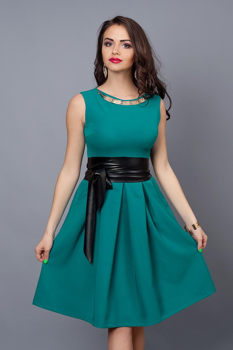 Женское легкое коктейльное летнее платье клеш,44