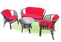 """Красивая мебель из ротанга Индонезия """"Bahama"""" 4 предмета: кресла (2шт.), столик и диван на 2 места"""