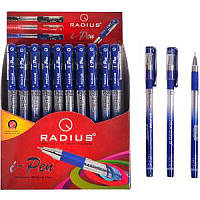 Ручка шариковая Radius i-Pen синяя, чёрная, фиолетовая 50шт. картонная упаковка