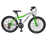 Подростковый спортивный велосипед 24д PROFI XM241A бело-салатовый