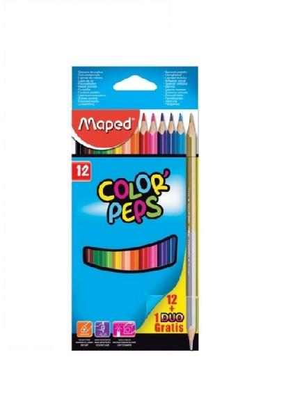 Maped Карандаши цветные Color'Peps, 12 цветов + 1 DUO карандаш