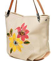 Сумка - мешок женская с яркими цветами Velina Fabbiano