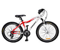 Подростковый спортивный велосипед 24д PROFI XM241B красно-белый