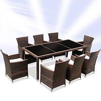 Мебель из ротанга садовая коричневая