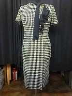 Платье с брошкой батал