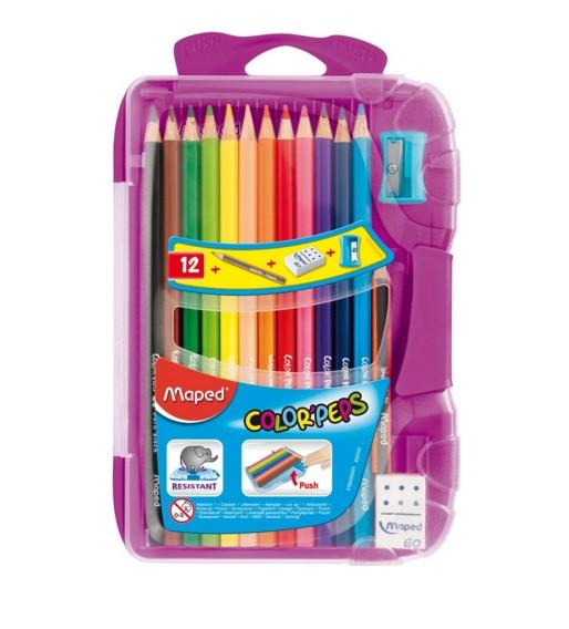 Maped Карандаши цветные Color'Peps+ точилка + ластик + простой каранда