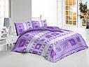 Двуспальный набор постельного белья «Фиолетовая Абстракция»