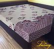 """Простынь на резинке 180х200 см """"Вензеля на бежево-коричневом фоне"""" in Luxury™ 32006"""