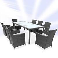Обеденный набор мебели из ротанга серый, фото 1