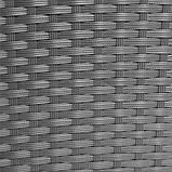 Обідній набір меблів з ротанга сірий, фото 6